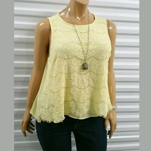 Forever 21 Blouse Yellow 2X